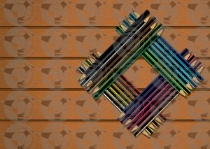 Colour-Pencils-Stacked-in-Square-on-Wood-Texture-Background
