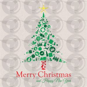 christmas-elements-tree-shaped-collage