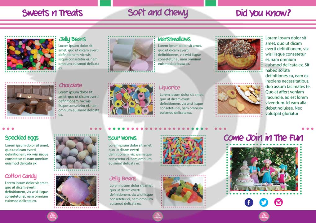 sweet shop confectionery bakery layout template