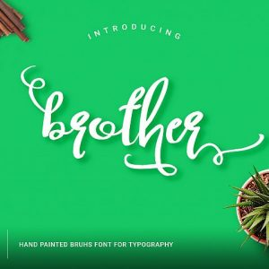 Brother Typography Script