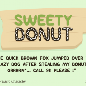 Sweety Donut Fun Typo