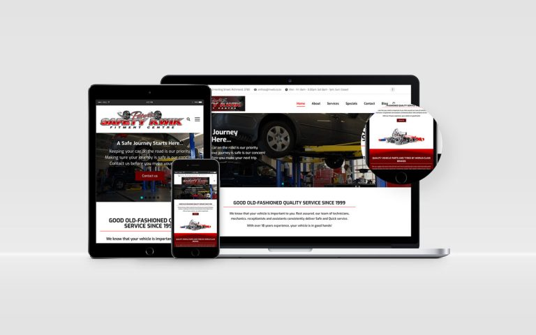 Peter's Safety Kwik Tyres and Spare Parts Website Design By BluSilva